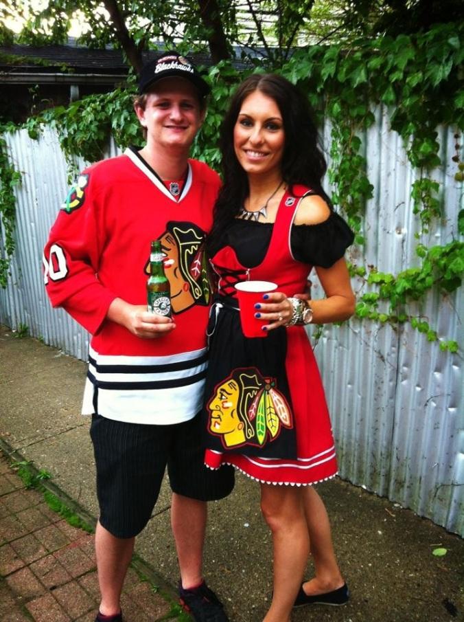 Chicago blackhawks dirndl