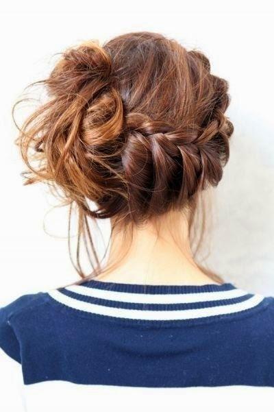 oktoberfest hairsyle-messy braid
