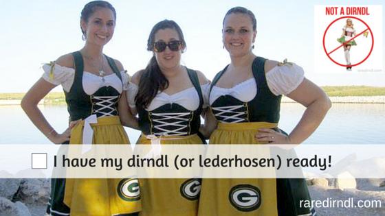 German Fest Milwaukee Checklist