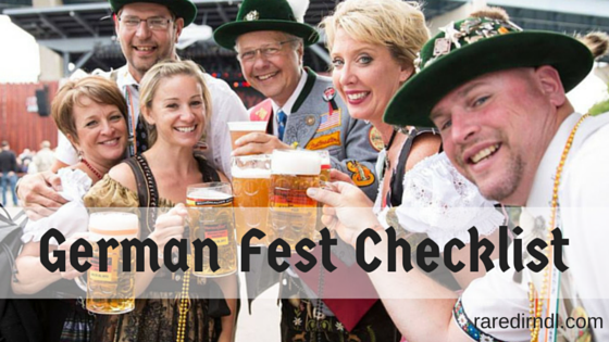 German Fest Milwaukee Checklist